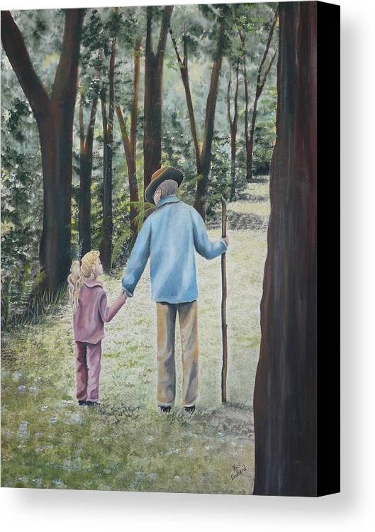 Grandfather Canvas Print featuring the painting Papa by Kris Crollard