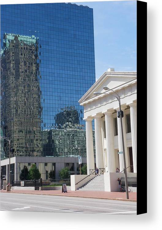 St.louis Canvas Print featuring the photograph Past And Present Reflections by Peggy King