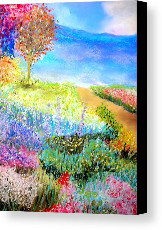 Landscape Canvas Print featuring the print Patricia's Pathway by Melinda Etzold