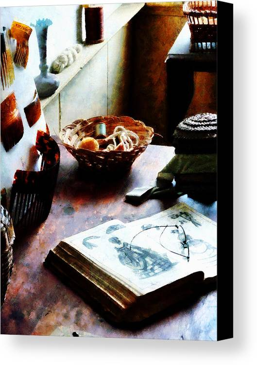 Pattern Canvas Print featuring the photograph Pattern Book by Susan Savad