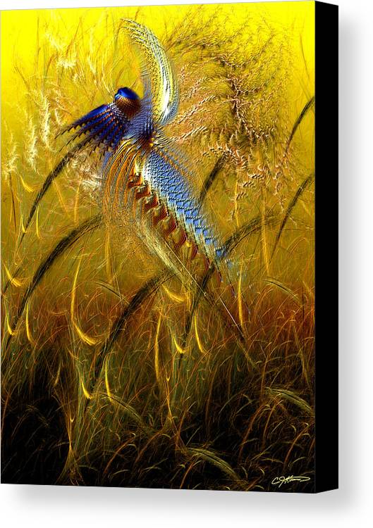 Abstract Canvas Print featuring the digital art Perils Of Genetic Engineering by Casey Kotas