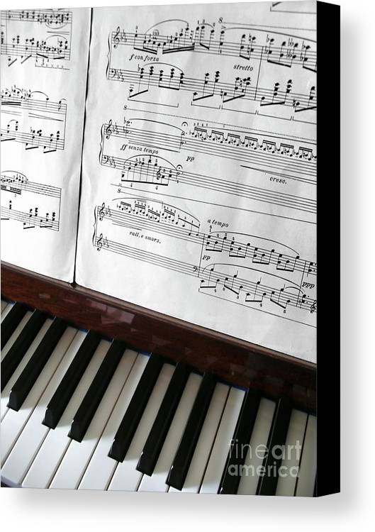 Acoustic Canvas Print featuring the photograph Piano Keys by Carlos Caetano