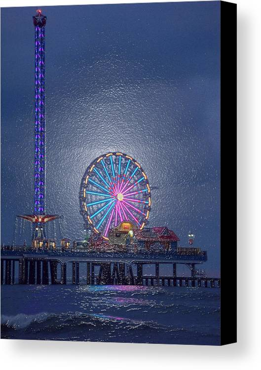 Fine Art Canvas Print featuring the photograph Pleasure Pier I I I by Darby Donaho
