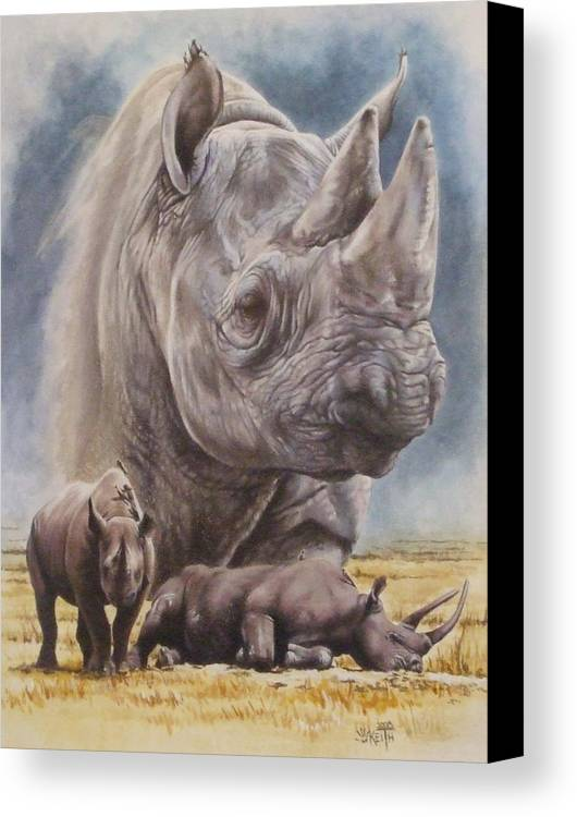 Wildlife Canvas Print featuring the mixed media Precarious by Barbara Keith