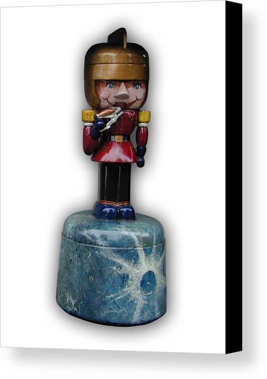 Nutcracker Canvas Print featuring the sculpture Prince Gordon by Paul Illian
