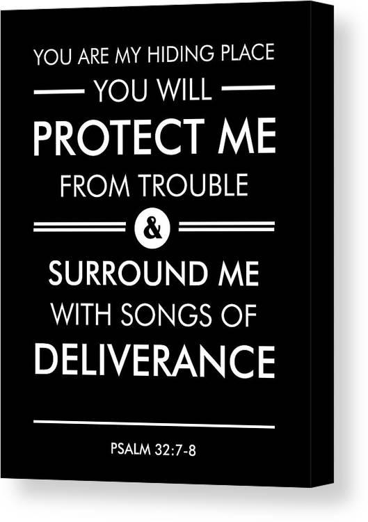 Psalm 32-7-8 - Spiritual Wall Art - Bible Verses Art - Minimalist ...