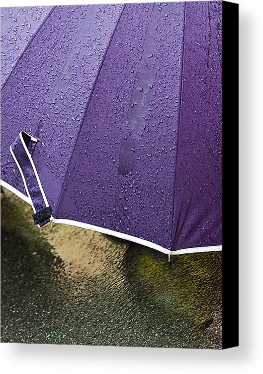 Umbrella Canvas Print featuring the photograph Purple Umbrella by Marion McCristall