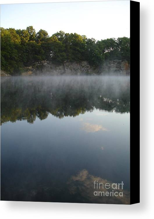 Landscape Canvas Print featuring the photograph Quarry Reflections by Chad Natti