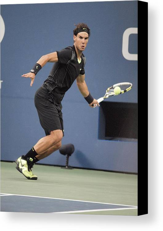 Rafael Nadal Canvas Print featuring the photograph Rafael Nadal In Attendance For Us Open by Everett