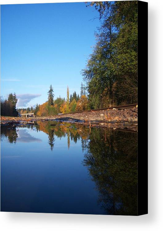 Fall Canvas Print featuring the photograph Reflection Of Autumn by Ken Day