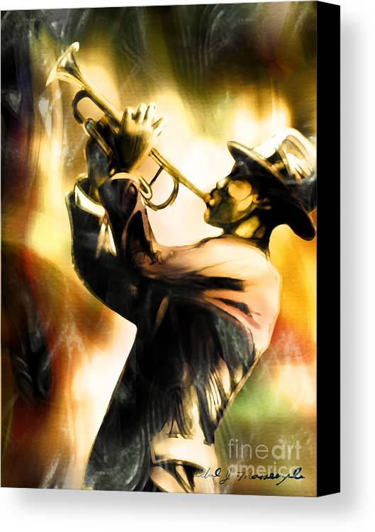 Jazz Art Canvas Print featuring the painting Riff by Mike Massengale