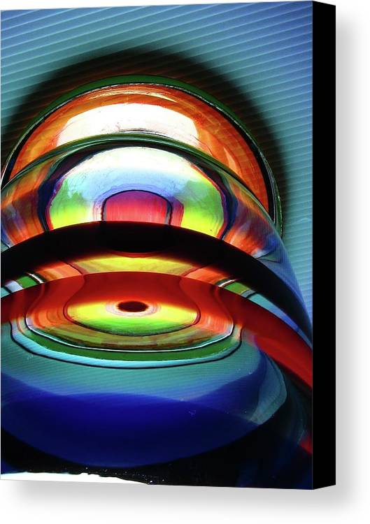 Abstract Canvas Print featuring the photograph Rings # 4 by Paolo Staccioli