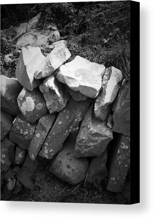 Irish Canvas Print featuring the photograph Rock Wall Doolin Ireland by Teresa Mucha