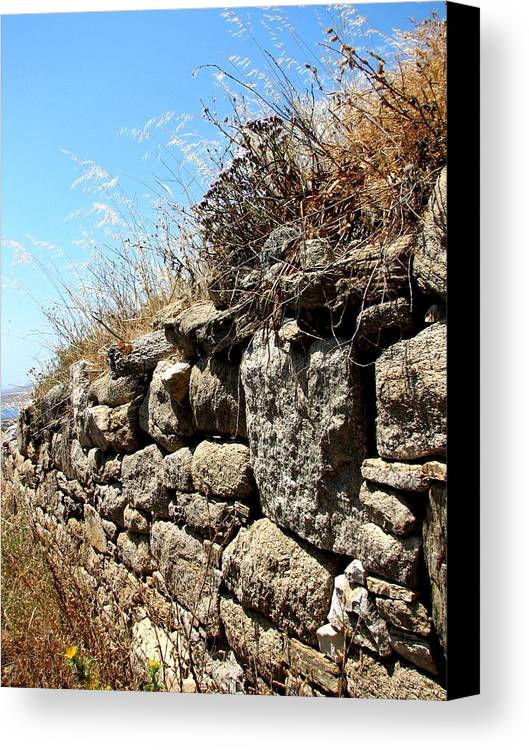 Stone Canvas Print featuring the photograph Rock Wall by Stephanie Gobler