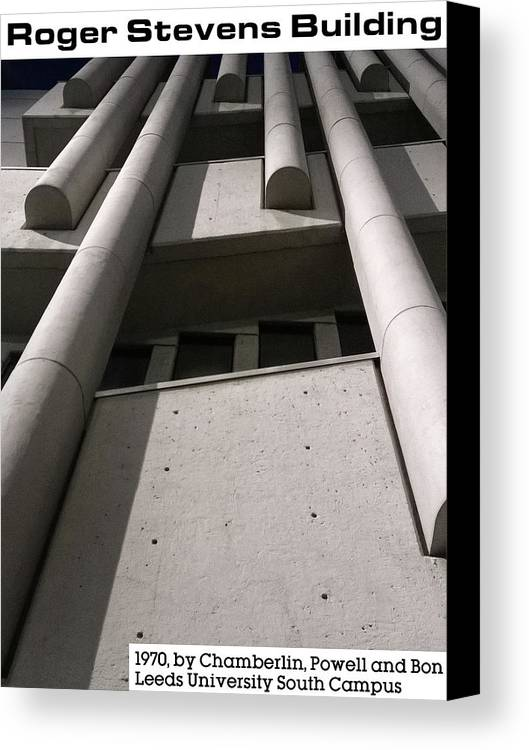 Leeds Canvas Print featuring the photograph Roger Stevens Building by Kakkaratchi