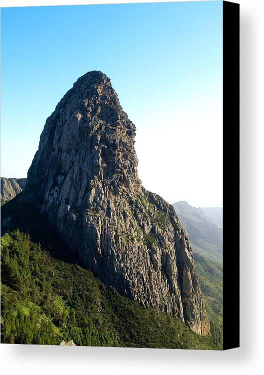 La Gomera Canvas Print featuring the photograph Rogue De Agando 2 by Jouko Lehto