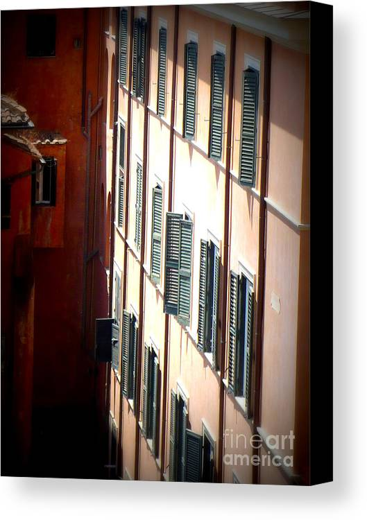 Rome Canvas Print featuring the photograph Roman Windows by Carol Groenen