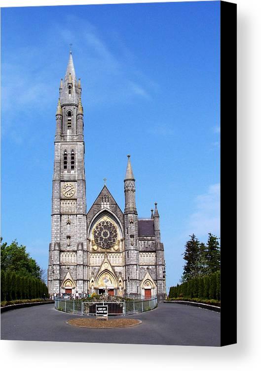 Ireland Canvas Print featuring the photograph Sacred Heart Church Roscommon Ireland by Teresa Mucha