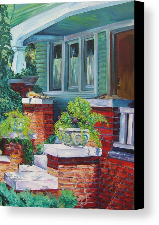 House Canvas Print featuring the painting Santa Monica Beach House by Karen Doyle