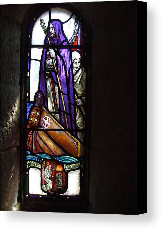 Scottish Canvas Print featuring the photograph Scottish Stained Glass Window #2 by Lisa Collinsworth