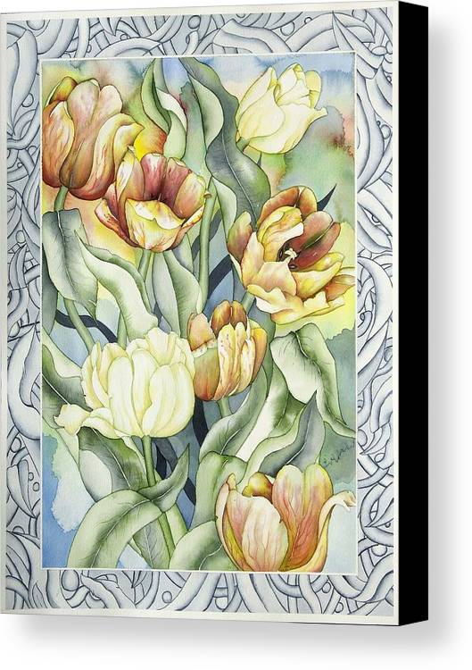 Flowers Canvas Print featuring the painting Secret World I by Liduine Bekman