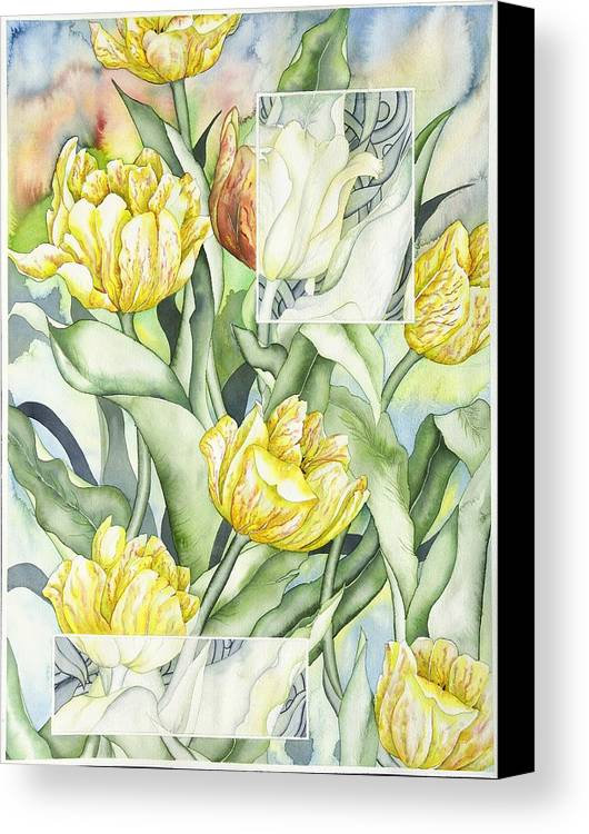 Flowers Canvas Print featuring the painting Secret World II by Liduine Bekman