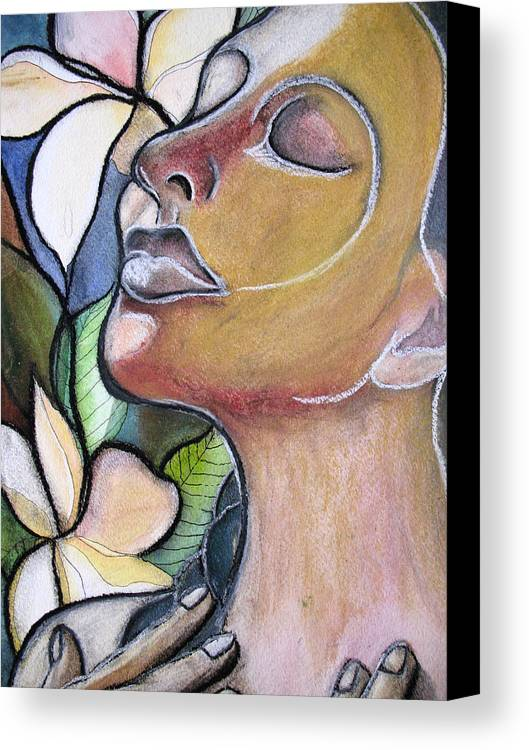 Woman Canvas Print featuring the painting Self-healing by Kimberly Kirk