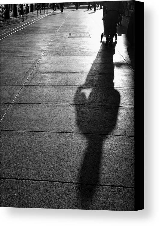 Black And White Photography Canvas Print featuring the photograph Shadow 1 by Luis Santos Ochoa Duron
