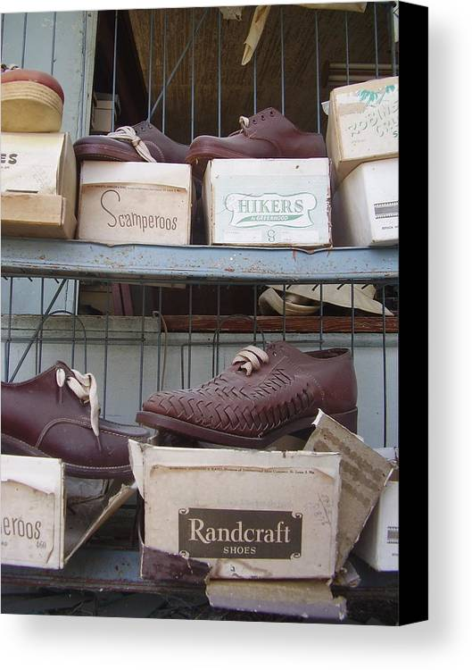Shoes Canvas Print featuring the photograph Shoes by Flavia Westerwelle