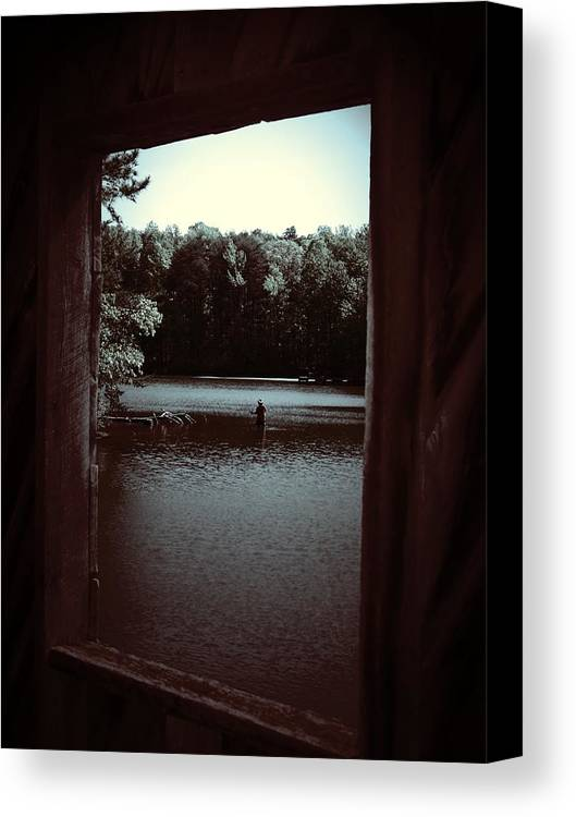 Lake Canvas Print featuring the photograph Simple Times by Jessica Burgett