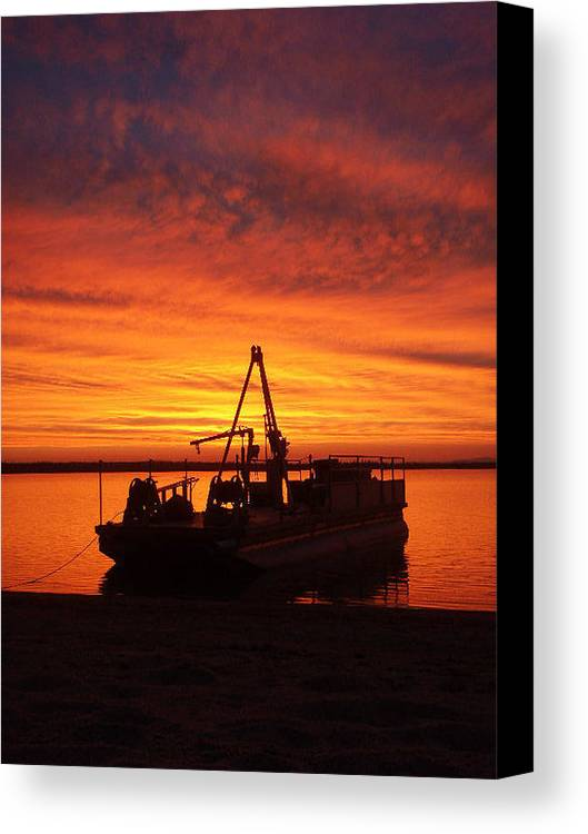 Sunset Canvas Print featuring the photograph Sky On Fire by Mary Lynne Crispo