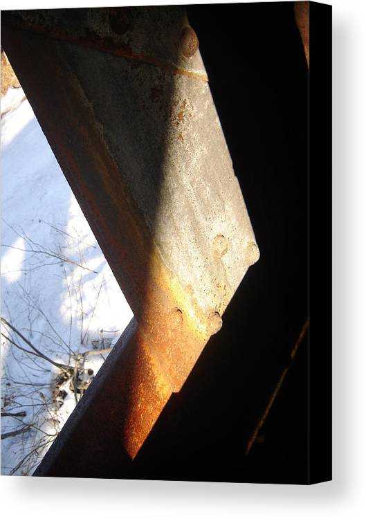 Architectural Canvas Print featuring the photograph Snow Angle by Dean Corbin