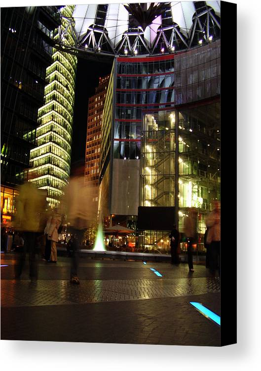 Sony Center Canvas Print featuring the photograph Sony Center by Flavia Westerwelle