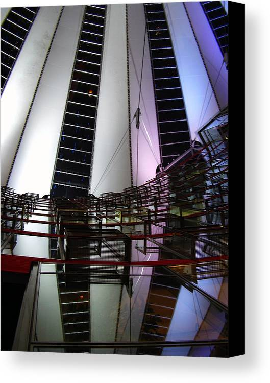 Sony Center Canvas Print featuring the photograph Sony Center II by Flavia Westerwelle