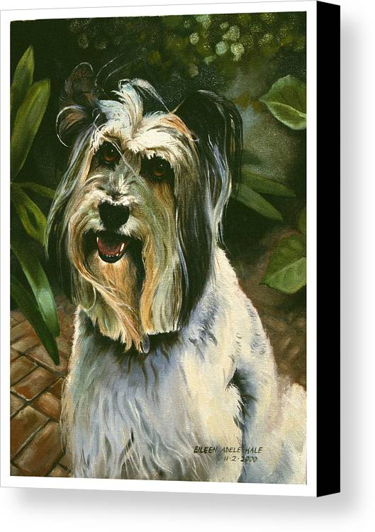 Portrait Canvas Print featuring the painting Sophie by Eileen Hale