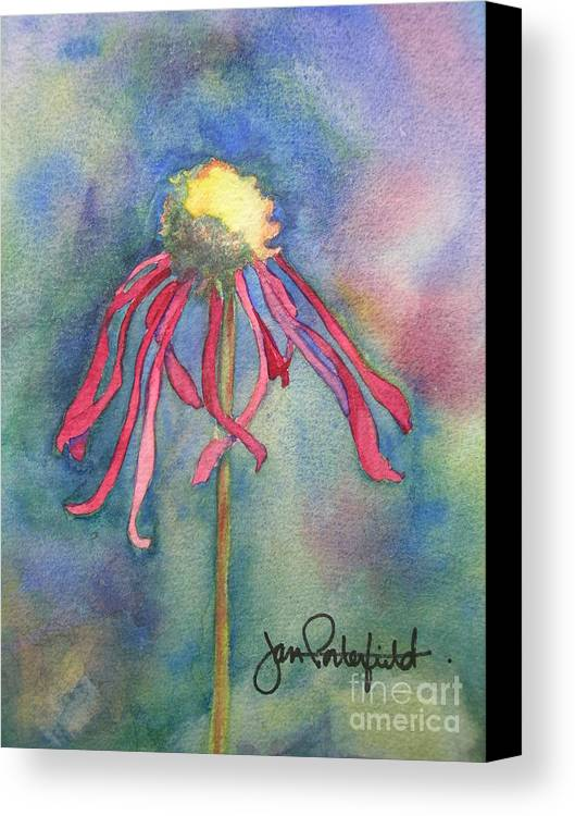 Flower Canvas Print featuring the painting Spent Flower by Jeff Friedman