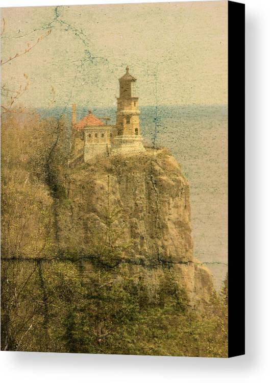 Tingy Canvas Print featuring the photograph Split Rock by Tingy Wende
