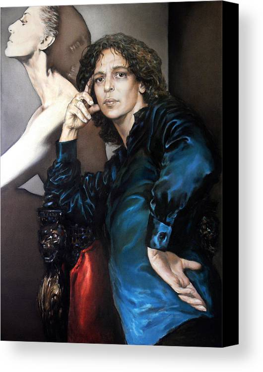 Eye Canvas Print featuring the painting S.portrait by Valeriy Mavlo