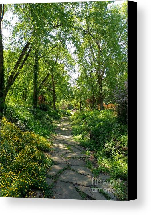 St Louis Missouri Canvas Print featuring the photograph Spring At The Urban Oasis Portrait by Debbie Fenelon