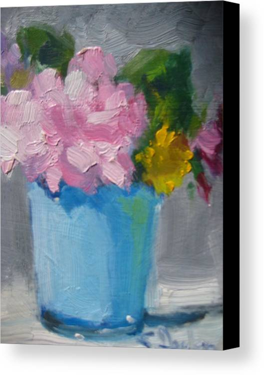 Floral Canvas Print featuring the painting Spring Bouquet by Susan Jenkins