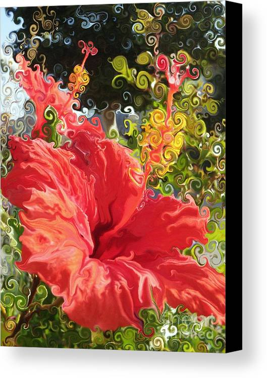 Hibiscus Canvas Print featuring the photograph Spring Hibiscus by Daniele Smith