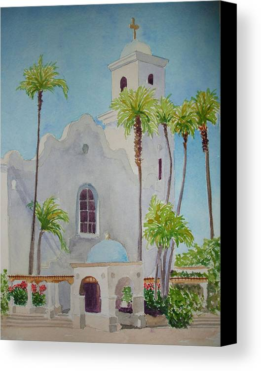 Church Canvas Print featuring the painting St John Of The Cross by Ally Benbrook