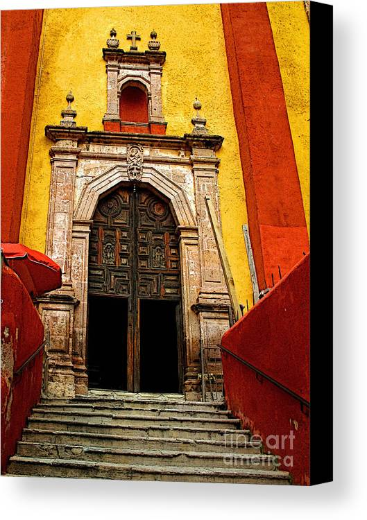 Darian Day Canvas Print featuring the photograph Stairway To The Cathedral by Mexicolors Art Photography