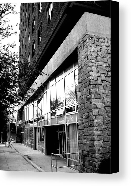Stone Canvas Print featuring the photograph Storefront by Stephanie Gobler