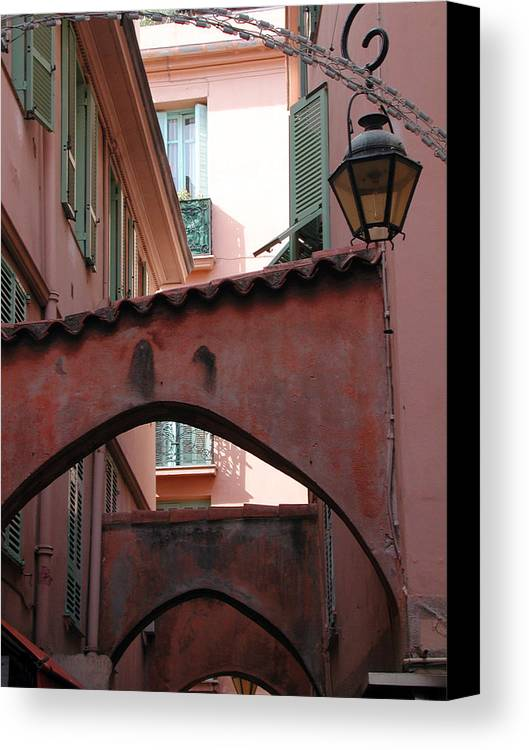 France Canvas Print featuring the photograph Streets Of Cannes 2 by Holly Wolfe