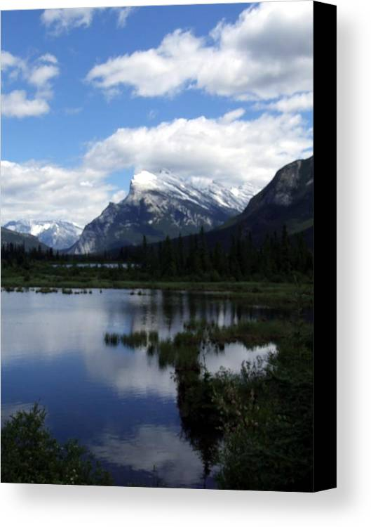 Landscape Canvas Print featuring the photograph Summertime In Vermillion Lakes by Tiffany Vest