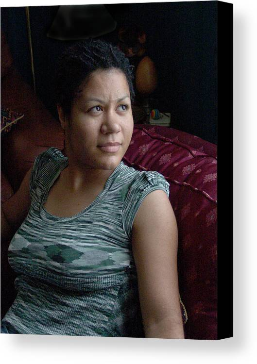 Black Woman Canvas Print featuring the photograph Sweettough by John Toxey
