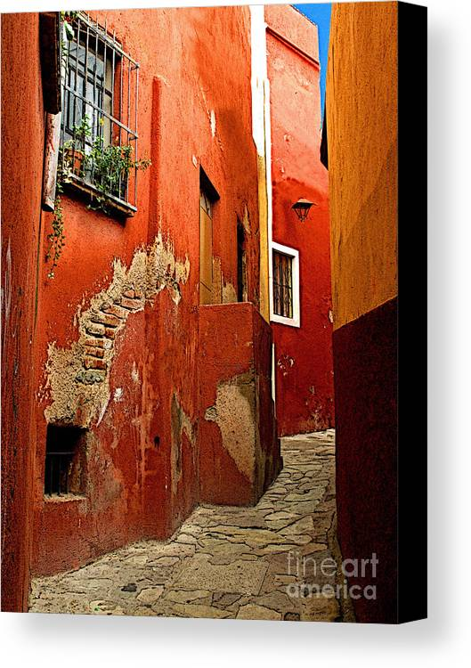 Darian Day Canvas Print featuring the photograph Terracotta Alley by Mexicolors Art Photography