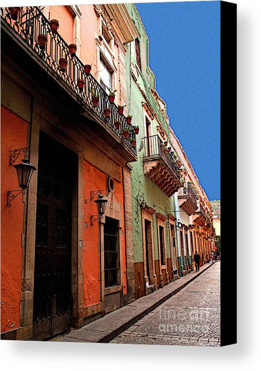 Darian Day Canvas Print featuring the photograph Terracotta And Mint by Mexicolors Art Photography