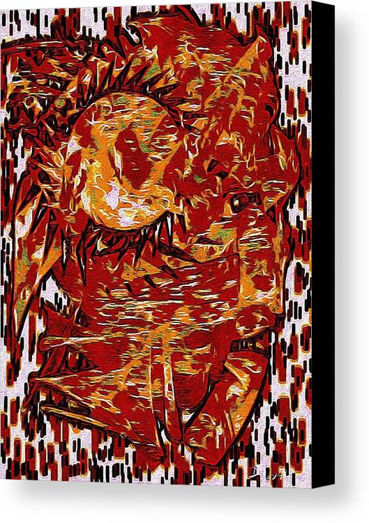 Accidental Canvas Print featuring the digital art The Accidental Shaman by Doobie Dayglow